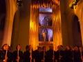 """tanz & kunst koenigsfelden, """" babel.torre viva """", Aufnahme aus der Hauptprobe, Uraufführung am 17. Mai 2013. Klosterkirche Koenigsfelden, Windisch, 14./15. Mai 2013."""